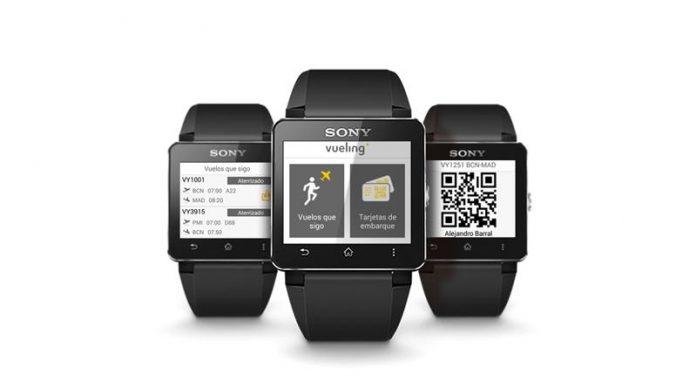 Primera tarjeta de embarque wearable Sony - Vueling